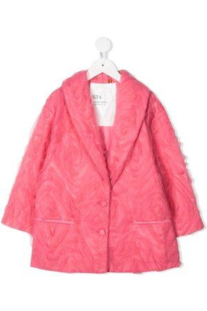 CAROLINE BOSMANS Tulle-overlay single-breasted jacket