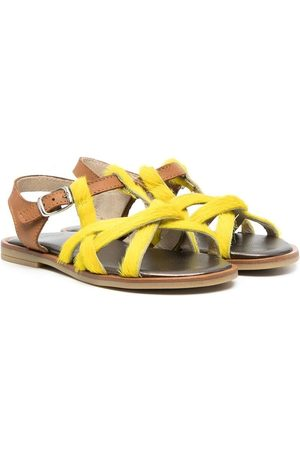 PèPè Pony-fur strap sandals