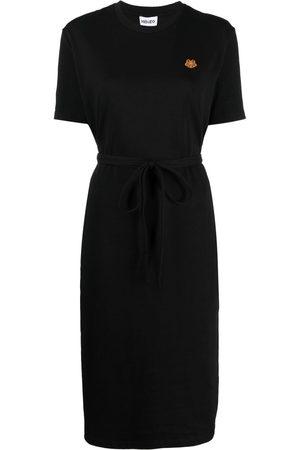 Kenzo Embroidered-design short-sleeve dress