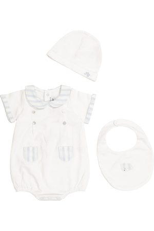 Tartine Et Chocolat Baby cotton bodysuit, hat and bib set