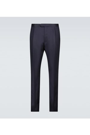 CARUSO Tailored silk and linen pants