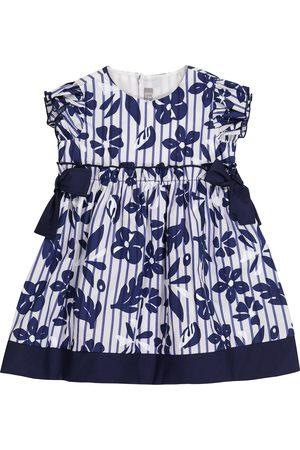 Il gufo Baby floral cotton dress