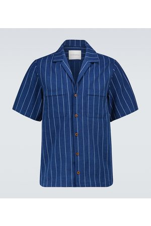 King and Tuckfield Pinstriped bowling shirt