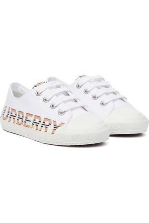 Burberry Logo cotton gabardine sneakers