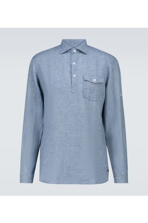 LARDINI Long-sleeved linen shirt