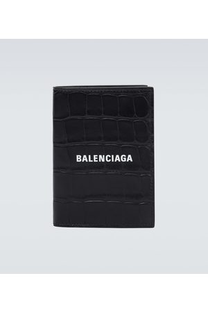 Balenciaga Cash leather wallet with logo