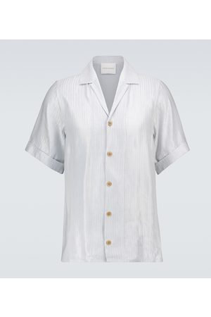 King and Tuckfield Herringbone bowling shirt