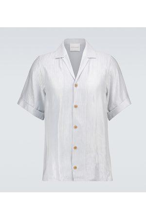 King and Tuckfield Herringbone bowling shirt