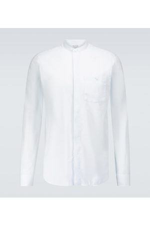 CARUSO Band collar long-sleeved shirt