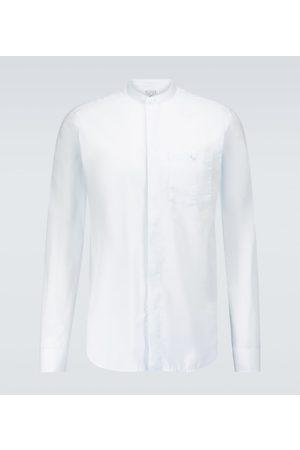 CARUSO Band collar long-sleeved shirt