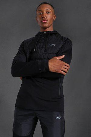 Boohoo Men Winter Jackets - Mens Man Active Quilted 1/4 Zip Hoodie