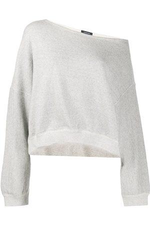 R13 Women Strapless Tops - Off-the-shoulder sweatshirt