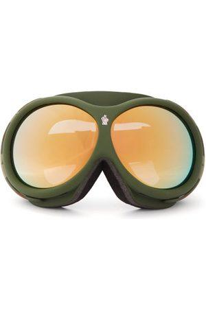 Moncler Logo-jacquard Strap Camouflage Ski Goggles - Womens - Khaki