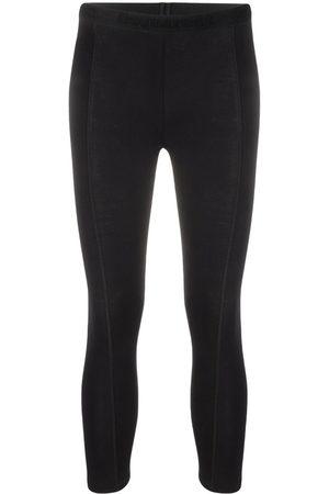 Dsquared2 Women Leggings - Cropped stretch-cotton leggings