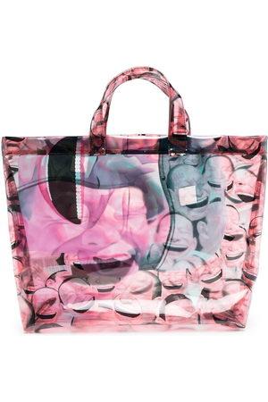 Comme des Garçons Tote Bags - Face-print tote bag