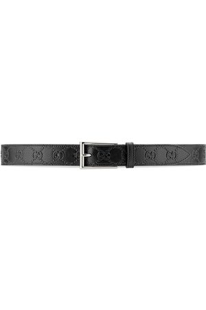 Gucci GG leather square buckle belt