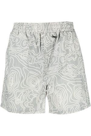 032c Men Board Shorts - Abstract-print swim shorts