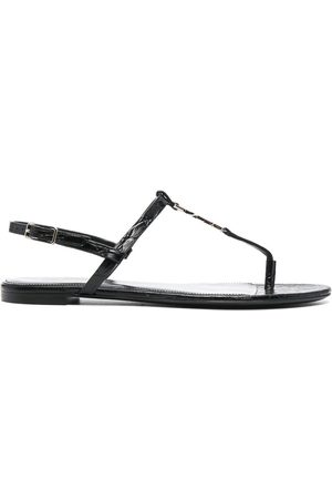 Saint Laurent Women Sandals - Cassandra open-toe sandals