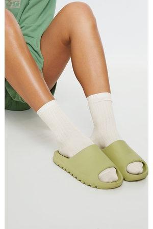 PRETTYLITTLETHING Cream Rib Ankle Socks