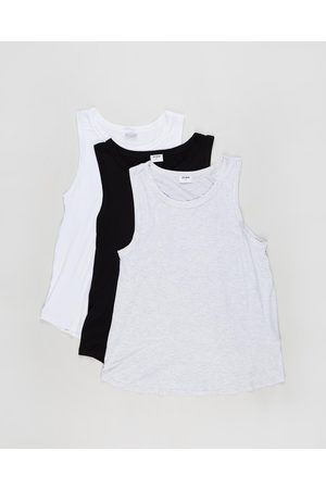 Cotton On 3 Pack Maternity Everyday Girlfriend Tank The Iconic Exclusive - Maternity Singlets ( , & Marle) 3-Pack Maternity Everyday Girlfriend Tank - The Iconic Exclusive