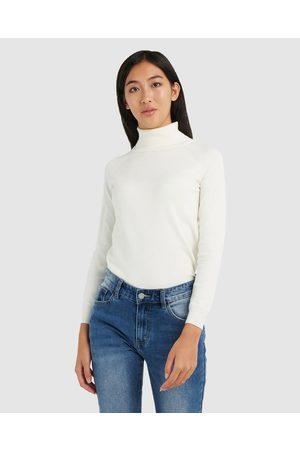 Forcast Clarisse Turtleneck Sweater - Jumpers & Cardigans (Ivory) Clarisse Turtleneck Sweater