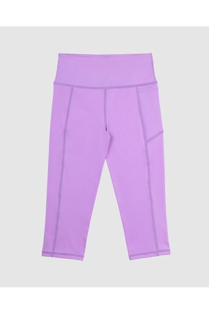 School Active Sports SAS Active Velocity Flex 3 4 Leggings - 3/4 Tights (Violet) SAS Active Velocity-Flex 3-4 Leggings