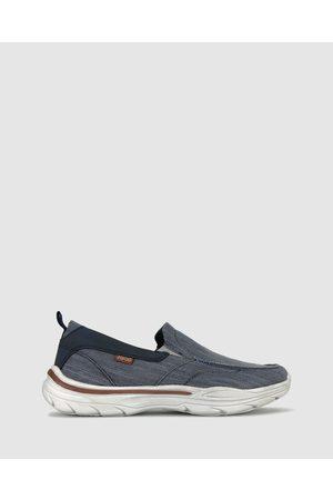 Zeroe Warrant Slip On Shoes - Casual Shoes (Navy) Warrant Slip On Shoes