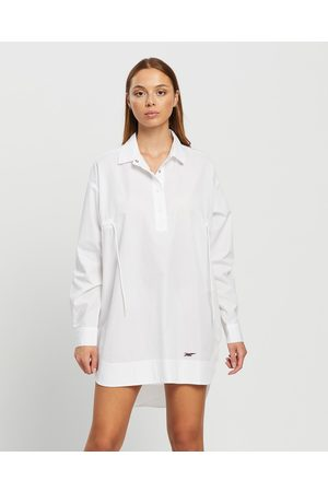 Onitsuka Tiger Shirt Dress Women's - Dresses (Real ) Shirt Dress - Women's