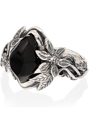 Lyly Erlandsson Men Rings - Aria sterling silver stone ring