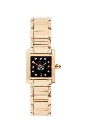 JACQUIE AICHE Vintage Cartier Tank Diamond & 18kt Watch - Womens