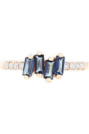 Suzanne Kalan Women Rings - Gracie' diamond topaz 14k rose gold ring