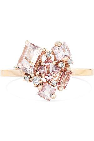 Suzanne Kalan Love' diamond topaz 14k rose gold ring
