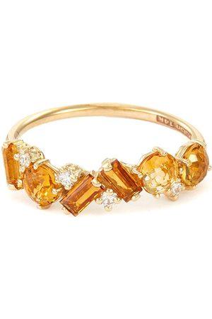 Suzanne Kalan Women Rings - Amalfi' diamond topaz citrine 14k gold ring