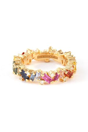 Suzanne Kalan Women Rings - Frenzy' diamond sapphire 18k gold eternity ring