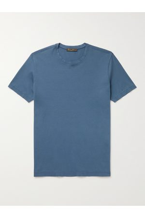 Loro Piana Men Short Sleeve - Smithtown Cotton-Jersey T-Shirt