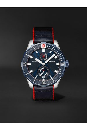 ULYSSE NARDIN Men Watches - Diver X Nemo Point Limited Edition Automatic 44mm Titanium and Webbing Watch, Ref. No. 1183-170LE/93-NEMO