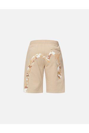 Evisu Men Shorts - Camouflage Streamlined Daicock Sweat Shorts