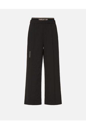 Evisu Women Wide Leg Pants - Double Waistband Wide Leg Pants