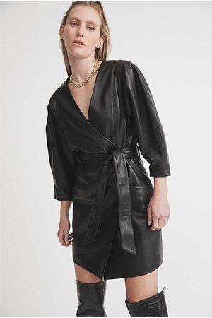 Witchery Leather Mini Dress