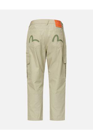 Evisu Men Cargo Pants - Seagull Print Cargo Pants