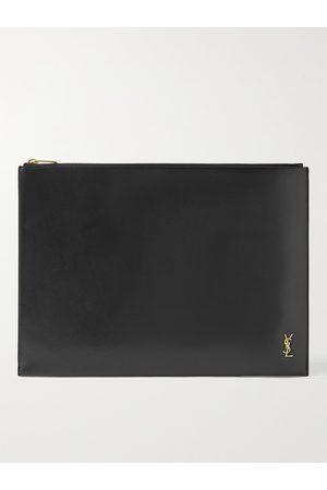 SAINT LAURENT Men Wallets - Logo-Appliquéd Leather Document Holder