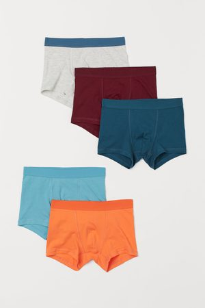 H & M Boys Briefs - 5-pack Boxer Briefs - Turquoise