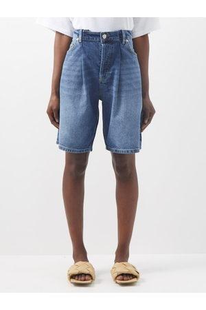 Raey Board Fold Denim Shorts - Womens - Dark