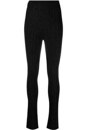 AMBUSH High-waisted ribbed trousers
