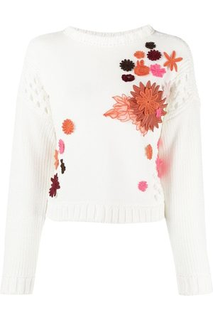 VALENTINO Women Sweaters - Embroidered-floral jumper