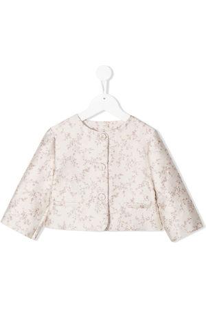 LA STUPENDERIA Girls Blazers - Luce floral jacquard jacket