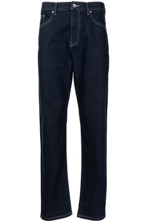 SPORT b. by agnès b. Men Straight - Embroidered straight-leg jeans