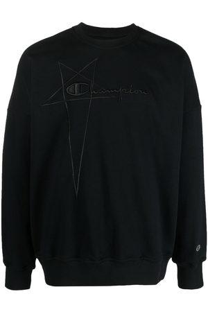 Rick Owens Men Sweatshirts - Logo-embroidered pullover sweatshirt