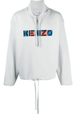 Kenzo Logo-print drawstring-neck sweatshirt