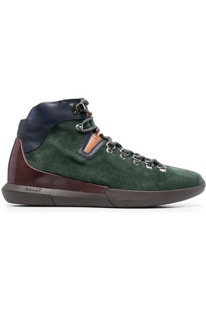 Bally Men Hiking Boots - Suede panelled hiking boots